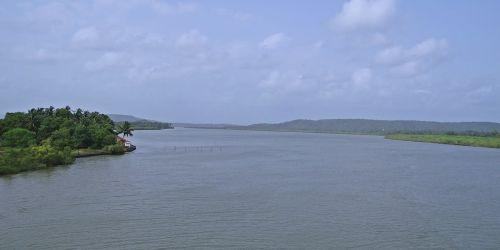 chapora river goa india