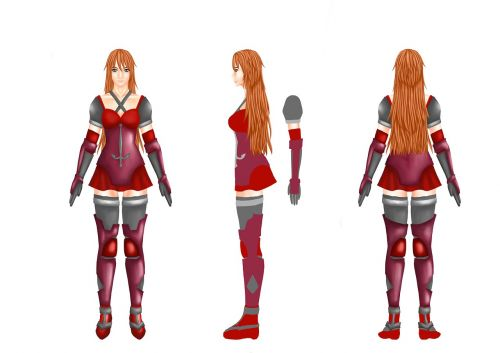 character swordsman woman