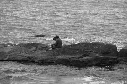 characters rocks sea