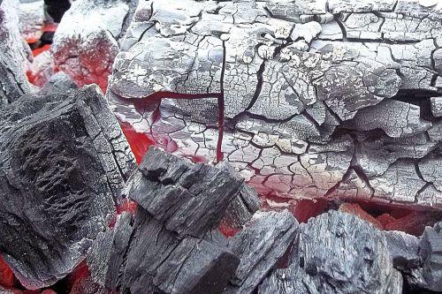 charcoal embers fire