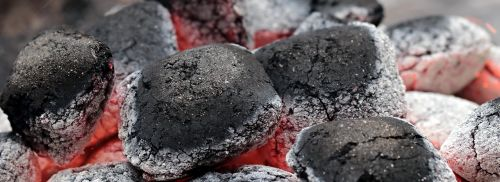 charcoal embers barbecue