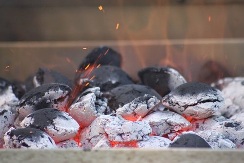 charcoal  briquettes  embers