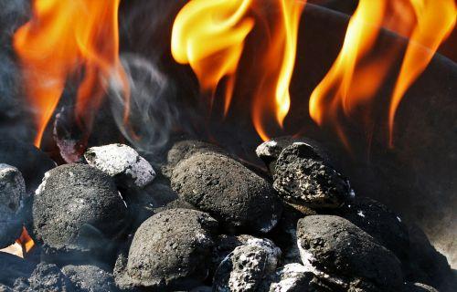charcoal fire charcoal briquettes