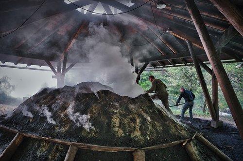 charcoal kiln  köhler  fireplace