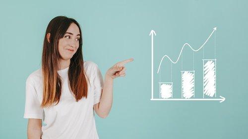 chart  analytics  woman
