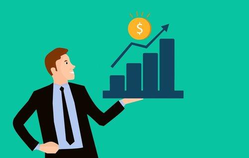 chart  businessman  money