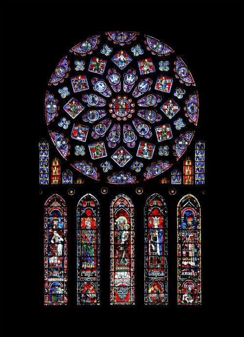 chartres,catholic,rosette,cathedral,notre dame de chartres,lancet window,glass window,window painting,stained glass,notre dame,paris