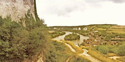 château gaillard,ruin,building,ruins,stones,castle,france,chateau,castles,fortresses,middle ages,perspective