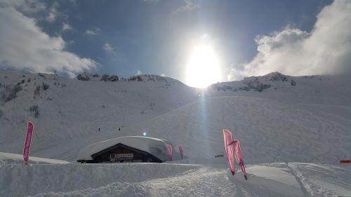 chatel skiing snow