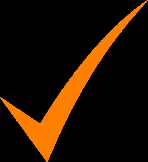check mark orange