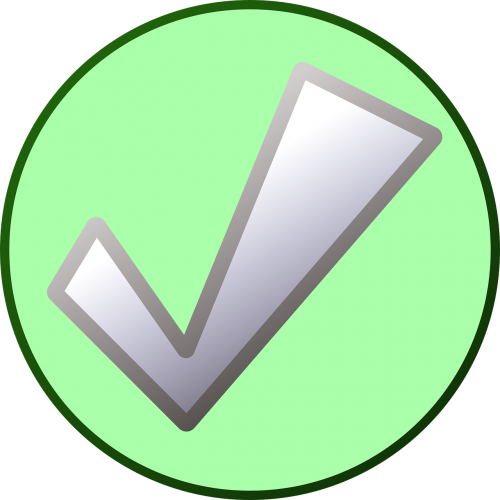 check mark checklist action