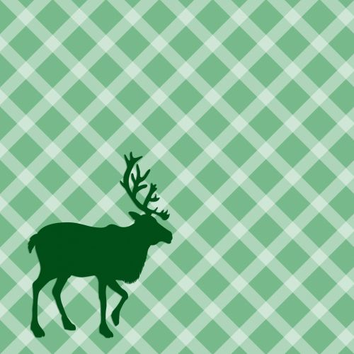 Check Pattern Stag Silhouette