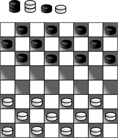 checker board black