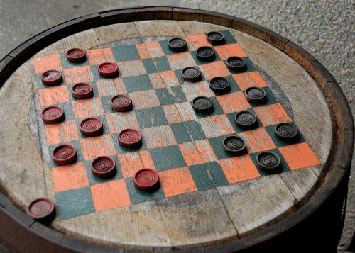 checker board barrel vintage