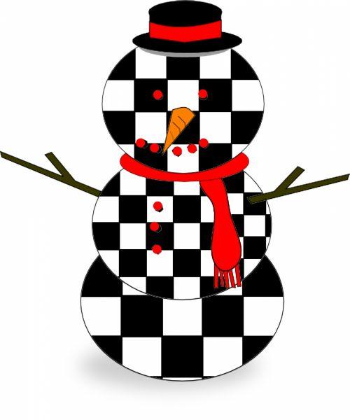 Checker Snowman