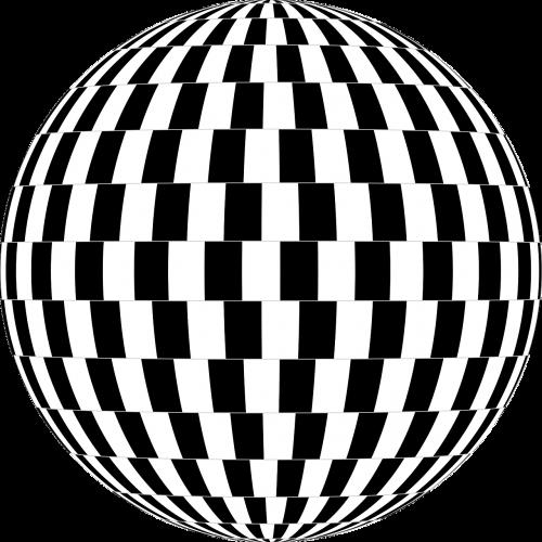 checkerboard optical illusion orb