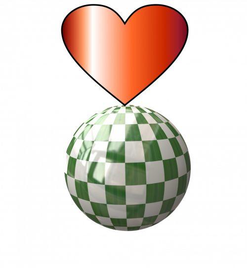 Checkerboard Heart 2