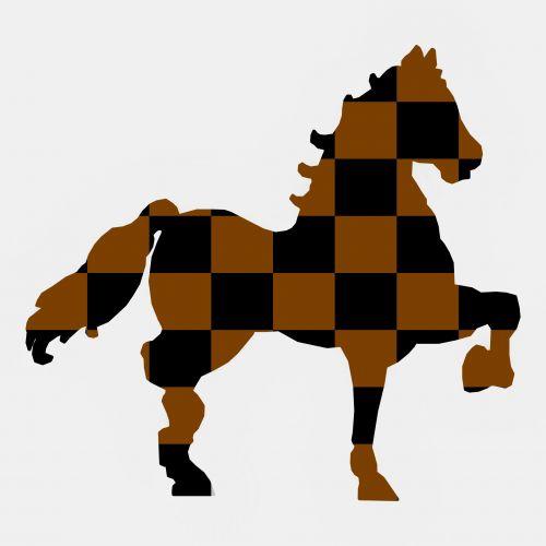 Checkerboard Horse