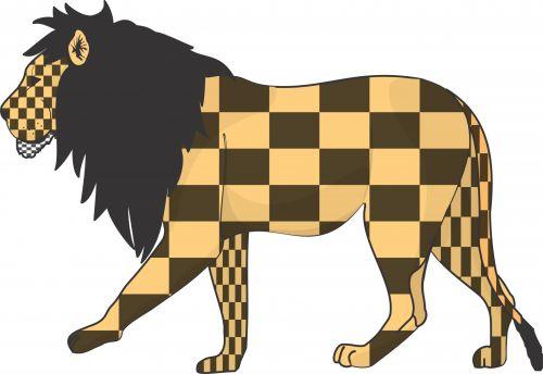 Checkerboard Lion