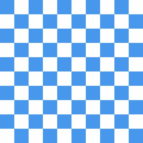 Checkerboard Squares Blue White