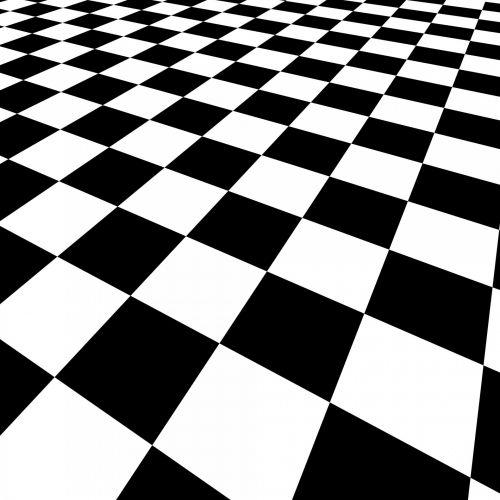 Checkered Black And White Image