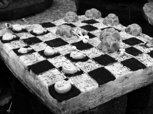 Checkers Game Black And White