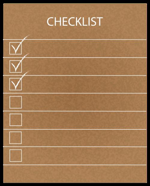 checklist list checkbox