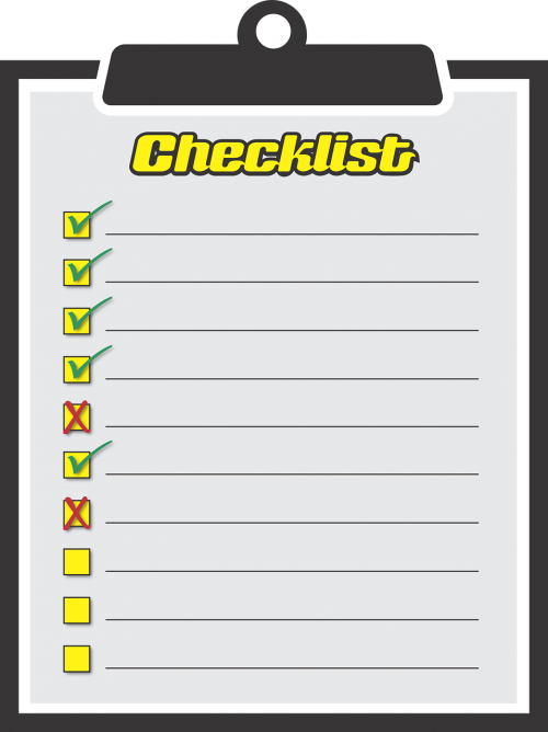 checklist to do activities