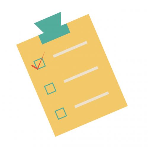 checklist planning clipboard