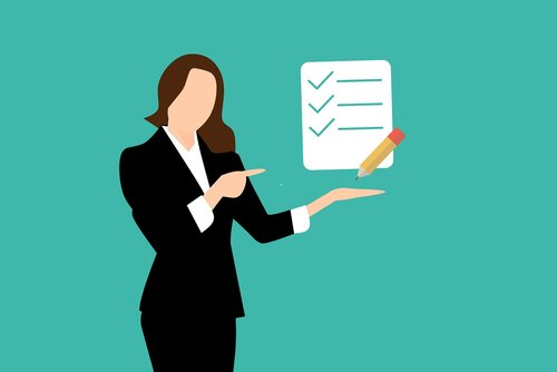checklist  business  businesswoman