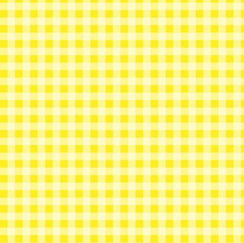 Checks Gingham Yellow Background