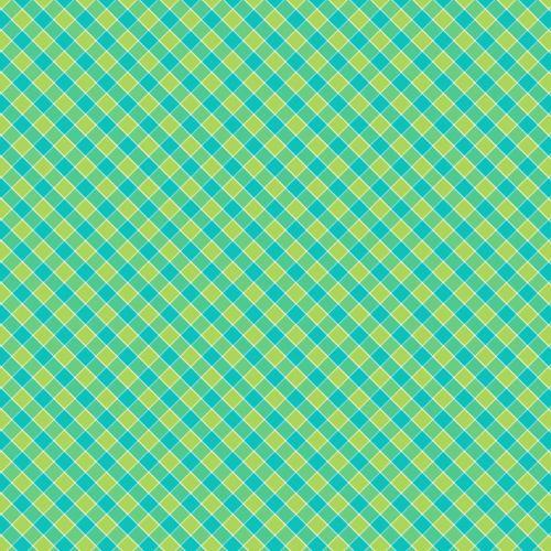 Checks Pattern Background Green