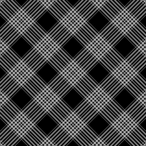 Checks, Plaid Background Black