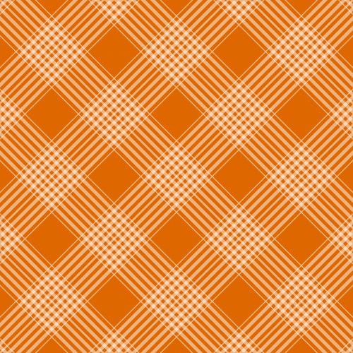 Checks Plaid Background Orange
