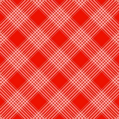 Checks Plaid Background Red