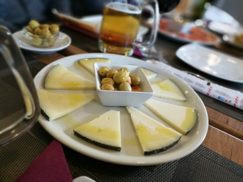 cheese olive lunch