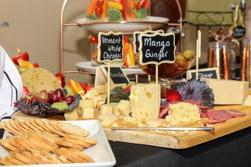 cheese  wine  salami