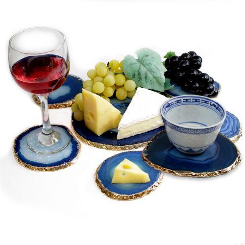 cheese set agate coasters