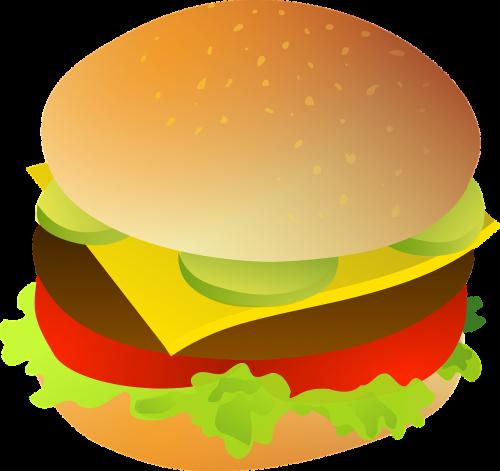 cheeseburger meat bun