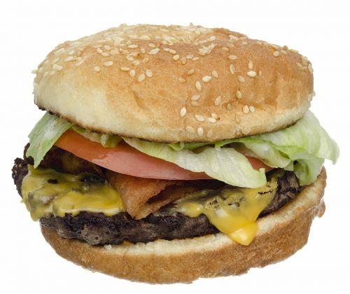 cheeseburger hamburger bacon