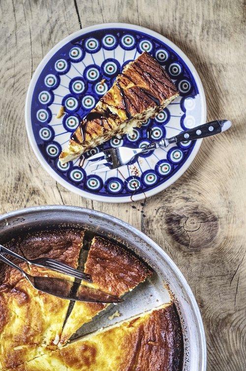 cheesecake  ceramic  plate