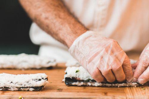 chef food sushi