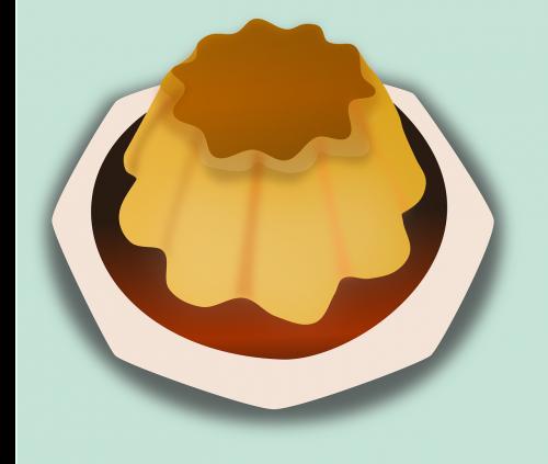 chef cooking crème caramel
