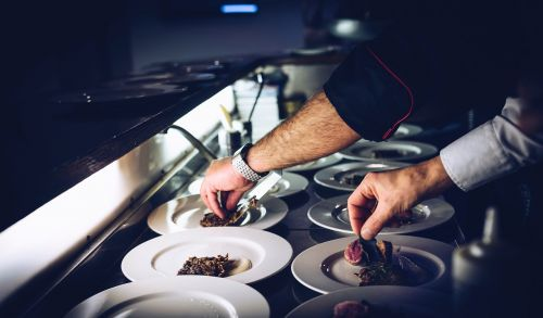 chef cook plate