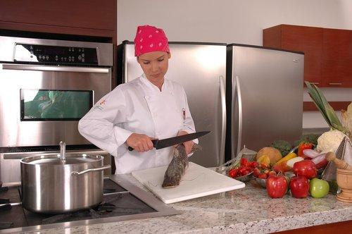 chef  kitchen  fish