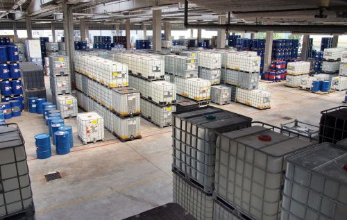chemical storage container storage stock