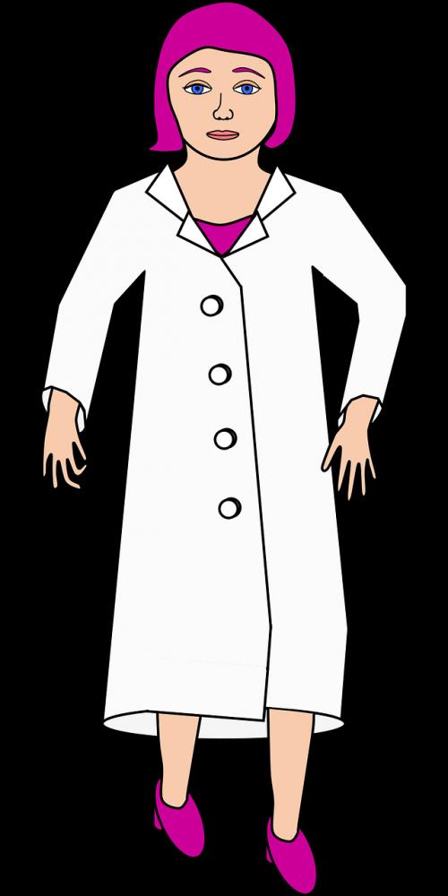 chemist female lab coat