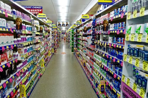 chemist shelving products