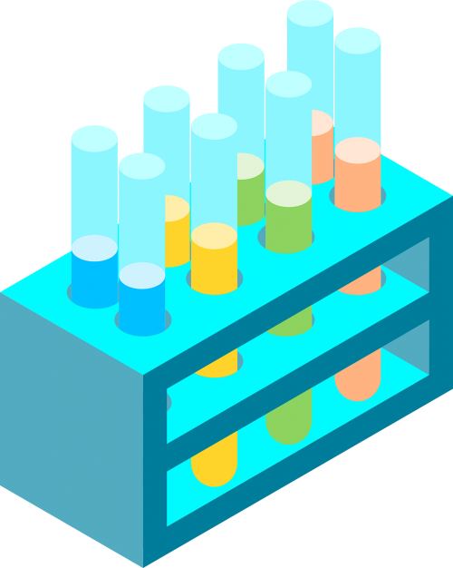 chemistry isometric test tube