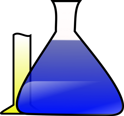 chemistry chemicals erlenmeyer flask